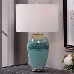 Caicos Table Lamp Aqua