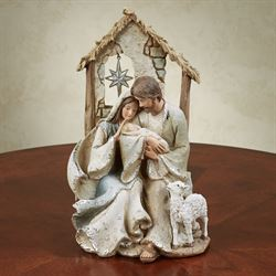 Divine Holy Family Figurine Natural