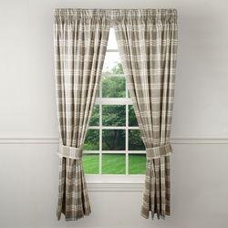 Lenexa Plaid Tailored Curtain Pair