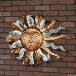 Windswept Sun Wall Art Multi Metallic