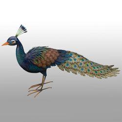 Grand Peacock Sculpture Multi Jewel