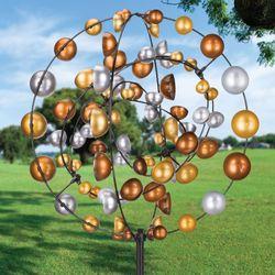 Gyroscope Wind Spinner Multi Metallic