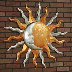 Celestial Harmony Sun and Moon Wall Art Bronze
