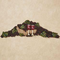 Wine Picnic Grapes Wall Topper Multi Earth