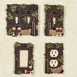 Wine Picnic Grapes Single Switch Multi Earth