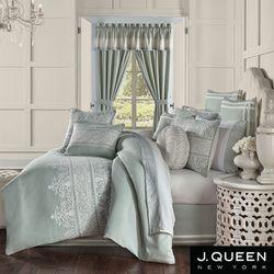 Patricia Embroidered Comforter Set Spa