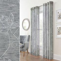 Billingsley Semi Sheer Grommet Curtain Panel Dark Gray