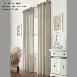 Samson Semi Sheer Grommet Curtain Panel