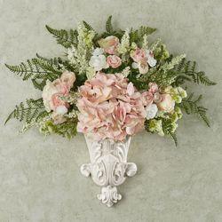 Ella Floral Medley Wall Pocket Pink