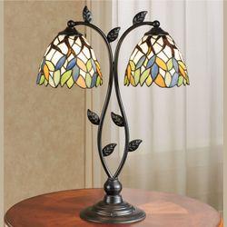 Bergamo Stained Glass Table Lamp Multi Bright