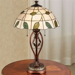 Trento Stained Glass Table Lamp Cream