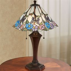 Garden Bliss Floral Stained Glass Table Lamp Multi Pastel