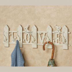 Love Wall Hook Rack Ivory