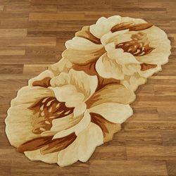 Felicity Floral Rug Runner Cream 26 x 55