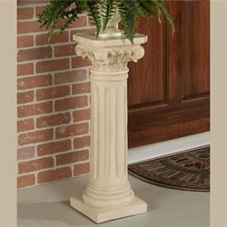 Classic Column Pedestal Antique Ivory