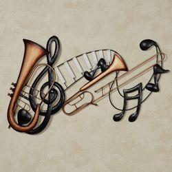 Musical Interlude Wall Art Multi Metallic