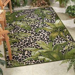 Exotic Safari Rectangle Rug Green