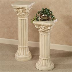 Corinthian Column Pedestal Ivory/Beige