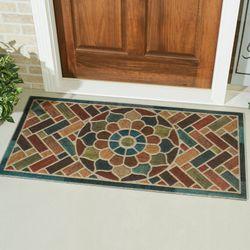 Brick Path Doormat Multi Jewel 48 x 24