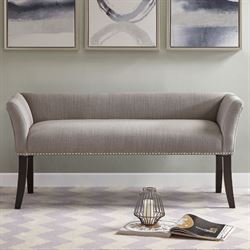 Welburn Upholstered Accent Bench Gray