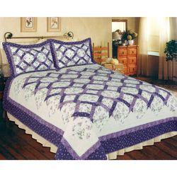 Lilac Trellis Patchwork Quilt
