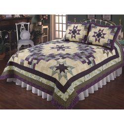 Amelia Patchwork Quilt Purple