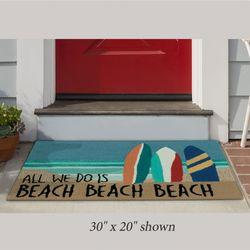 Beach Beach Rectangle Mat Multi Bright