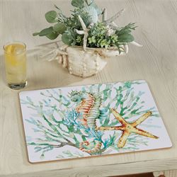 Chandler Cove Hardboard Placemats Multi Bright Set of Four