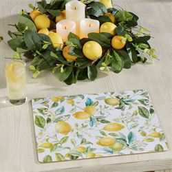 Lemon Grove Hardboard Placemats Yellow Set of Four