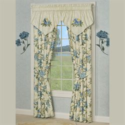 Marquette Embroidered Ascot Valance Buttercream 40 x 21