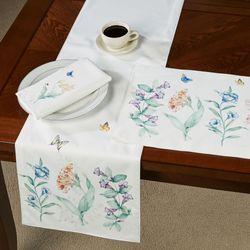 Butterfly Meadow Garden Table Runner Multi Pastel 14 x 70