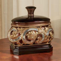 Daniella Decorative Covered Box Multi Metallic