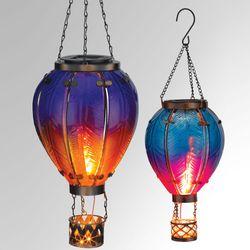 Small Hot Air Balloon Solar Lantern Multi Jewel
