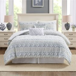 Brice Comforter Bed Set Blue