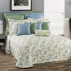 Marietta Floral Bedspread Eggshell