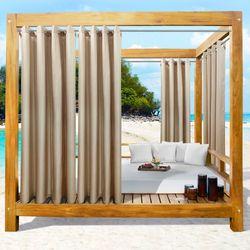 Bayport Solid Color Semi Sheer Wide Curtain Pair
