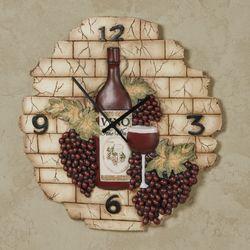 Vino Italiano Wall Clock Multi Earth