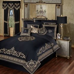 Kensington Comforter Set Black