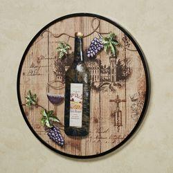 Villa Wine Wall Art Brown
