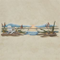 Seaside Tranquility Wall Sculpture Multi Pastel