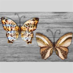 Elana Butterfly Wall Art Multi Metallic Set of Two