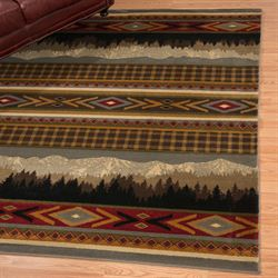 Rocky Point Rectangle Rug Multi Earth