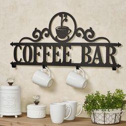 Coffee Bar Wall Hook Rack