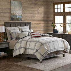 Willow Oak Comforter Bed Set Dark Gray