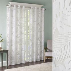 Leilani Sheer Grommet Curtain Panel White