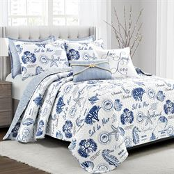 Harbor Life II Quilt Bed Set Indigo