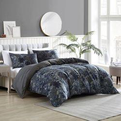 Camila Mini Comforter Set Dark Blue