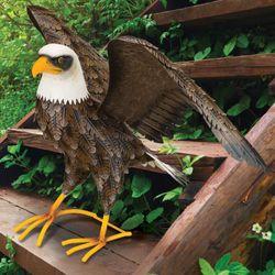 Noble Bald Eagle Sculpture Multi Earth