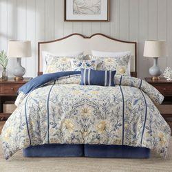 Livia Comforter Bed Set Blue