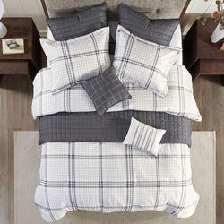 Fillmore Comforter Bed Set Silver Gray